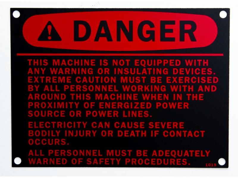 Danger Safety nameplate maker