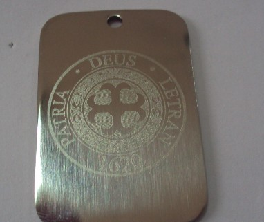 Laser engraving name plate