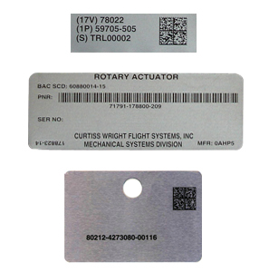 Custom metal barcode nameplate/tag/label manufactur