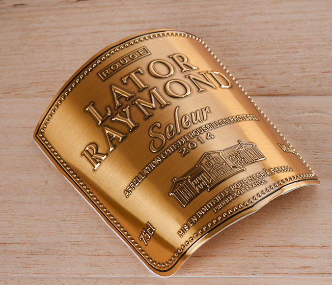 Brass Wine Label with adhesive ta