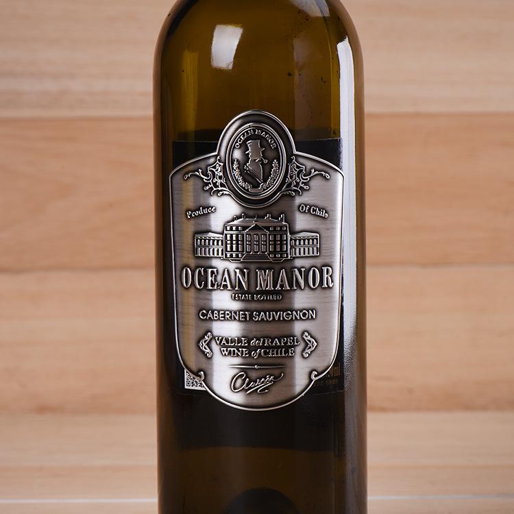 Wine Label With Sticker Metal Wine Label Manufacturers