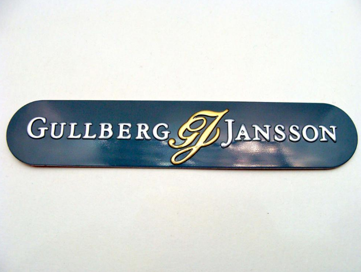 custom design embossed metal sticker