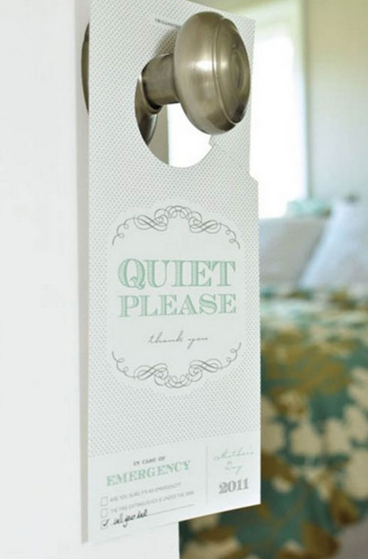 customized hanging hotel room door signs be quiet s