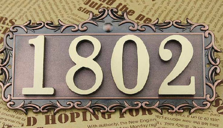 illuminated outdoor sign polished house number plat