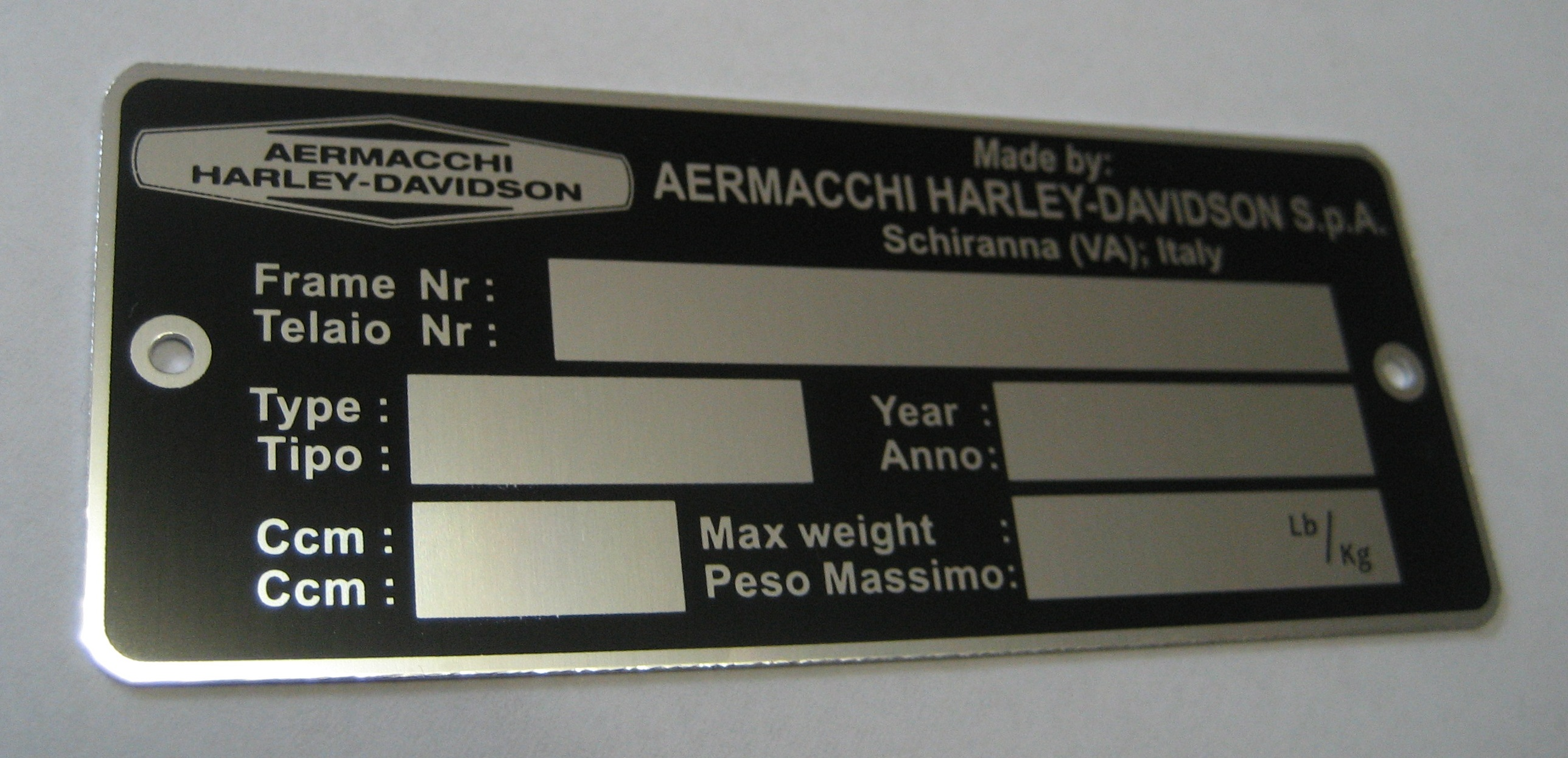 Vehicle Identification Plates,VIN Number Plates