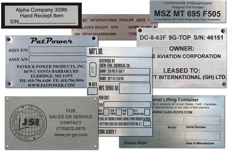 Machine Plates Online - ID Plates and Name Plates