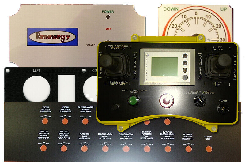 Custom Made Control Panel Plates Manufacturer